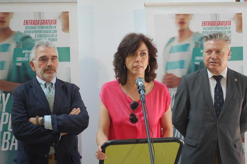 María Luisa Ceballos en la inauguracion de la feria de empleo