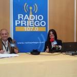 Malu Toro y Eloy de Valverde, responsables de la retransmisión en directo desde Agropriego
