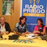 Agropriego - María Luisa Ceballos en el stand de Radio Priego