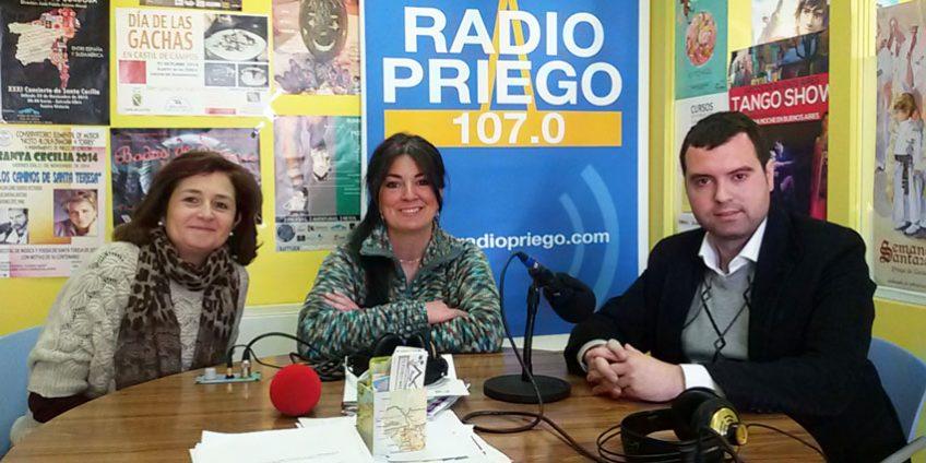 Ana Rogel y José Manuel Mármol en Radio Priego