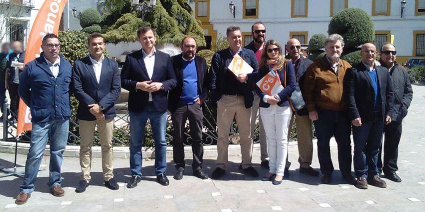 Marcial Gómez y David Dorado con Ciudadanos Priego
