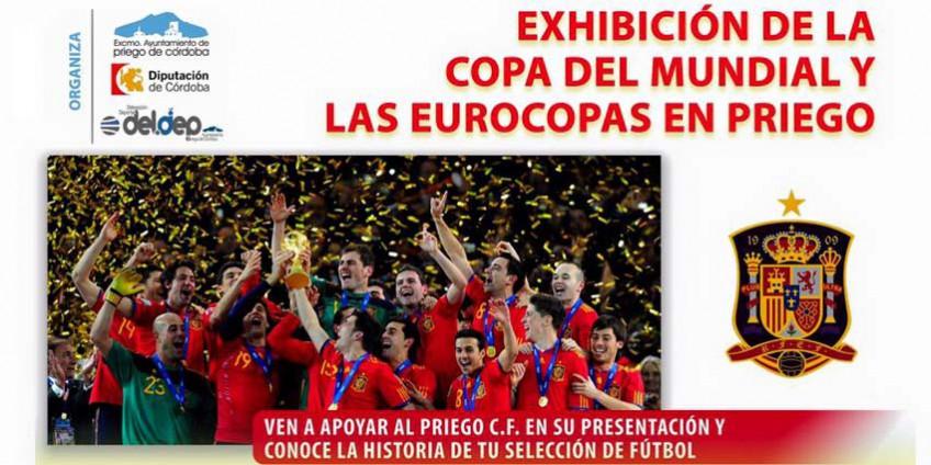 Exhibicion copas del Mundial y Eurocopas