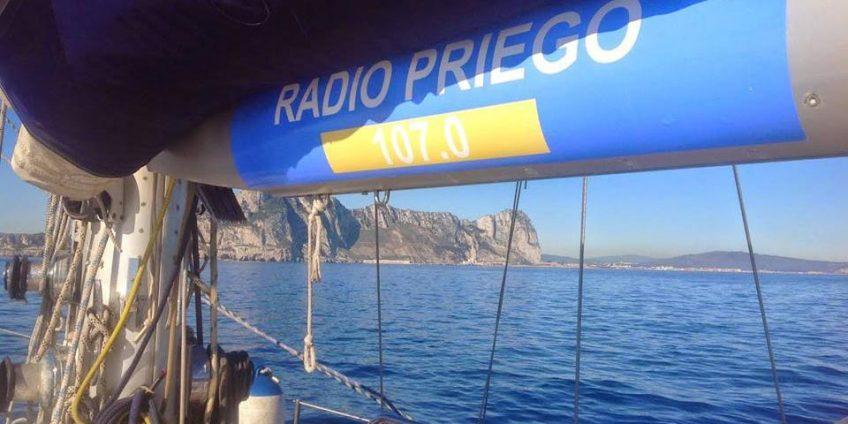 Radio Priego en el velero Fidelity Doblón