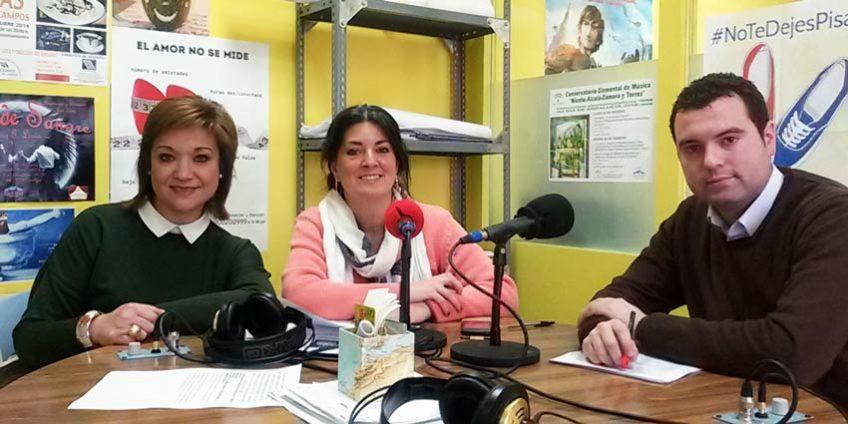 osé Mnuel Mármol y Paqui Mantas en Radio Priego