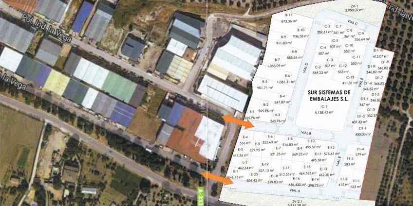 Plano de ampiación del Polígono Industrial de la Vega