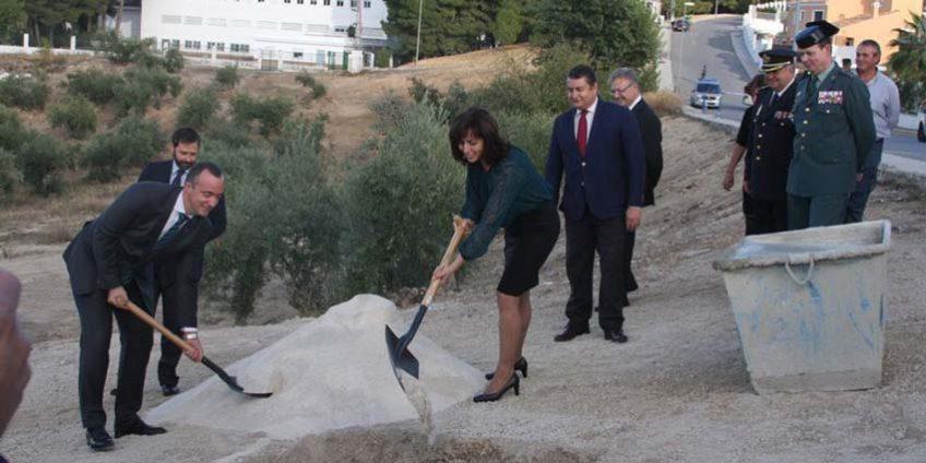Primera piedra nuevo cuartel de la Guardia Civil de Priego de Córdoba